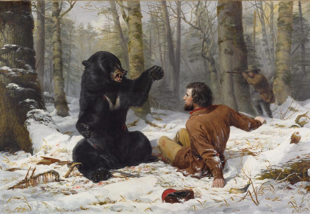 вес картинка охота на медведя с собаками размещаем
