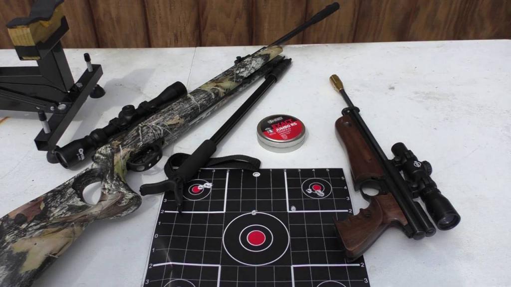 Пневматический пистолет и винтовка хастан 125